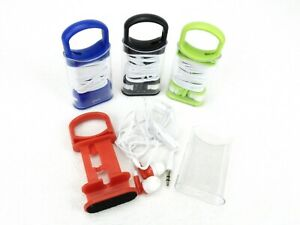 Combination Ear Buds w/Phone Stand Keeper Case, Color Choices, #UQ7702