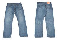 Levi's Strauss 504 Bleu Jeans Jambe Droite Hommes Jean W33 L30