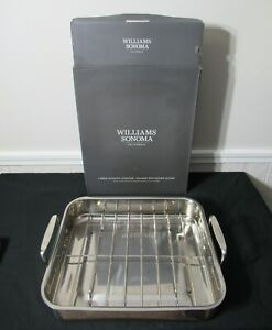 Williams Sonoma Stainless Steel Large Roasting Pan with Rack