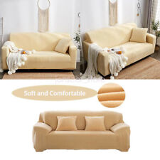 Comfortable Velvet Sofa Slipcover Stretch Protector Furniture Cover Living Room