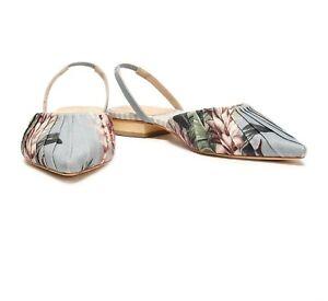 Zimmermann Floral-print canvas point-toe flats
