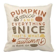 Happy Halloween Linen Cotton Cushion Cover Throw Pillow Case Home Sofa Decor New