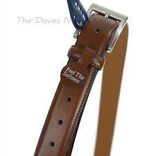 CROFT & BARROW Men's BIG & TALL Size 50-52 TAN Faux Leather BELT Silver Buckle