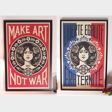 "Shepard Fairey - ""Make Art"" & ""Liberté"" - 2 Prints - SIGNED Open Edition - 2021"