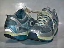 Womens Skechers Shape Ups BL/GRY/SIL Walking Fitness Toning Shoes SZ 9.5  #12320
