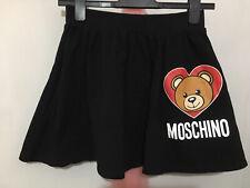Teen Girls Designer Moschino Black Loveheart Bear Wording Print Skirt 14yrs ❤️❤️