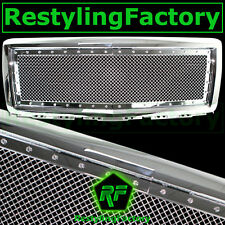 14-15 Chevy Silverado 1500 Chrome Rivet Studded Replacement Mesh Grille Shell