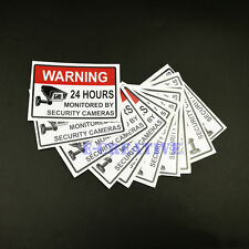 Warning Security Cameras In Use - Home Video Surveillance Label sticker Sign 5pc
