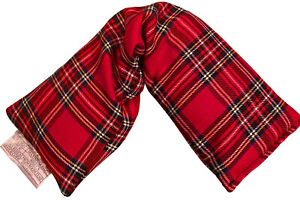 Amazing Health Hot and Cold Pack Cotton Tartan Wheat Bags - Lavender, Red