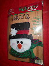 Dimensions Felt Applique Christmas Snow Buddy Welcome Snowman