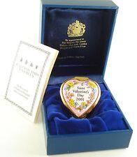 Halcyon Days Enamel Box Saint Valentine's Day 2001 Heart
