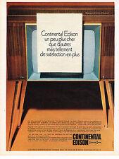 PUBLICITE  1968   CONTINENTAL EDISON  téléviseur