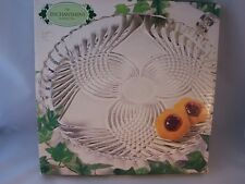 "Vintage Indiana Glass Enchantment Round Platter 12"" MIB USA Clear"