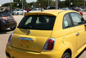 Fits: Fiat 500 Hatchback -PAINTED- Rear Spoiler Euro Style 2012+