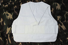 Anti-Stab vest cover white 38-42 inch new heavy police Metvest paintball airsoft