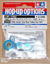 Tamiya 54302 TA06 Center One-Way Pulley Set (18T) (TA-06/TA06 Pro), NIP
