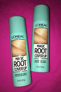 L'oreal Magic Root Cover Up Grey Concealer Spray Light To Medium Blonde ~ 2 New~