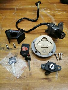 DUCATI IGNITION FUEL CAP SEAT LOCK SET AND KEY SuperSport SS Monster