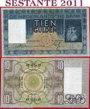 NETHERLANDS  OLANDA - 10 GULDEN 4.4. 1935   - P 49  - BB+ / VF