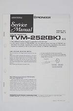 PIONEER TVM-252 BK Original Color Monitor Additional Service-Manual/Diagram o118