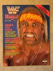 April 1988 WWF Magazine HULK HOGAN Cover! vintage wwe wrestling wrestlemania iv
