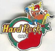 Hard Rock Cafe JAKARTA 1997 Christmas PIN - Red STOCKING - HRC Catalog #3805