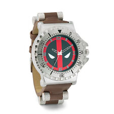 Official Marvel Deadpool Face Mask Logo Stainless Steel Watch W/ Collectible Box