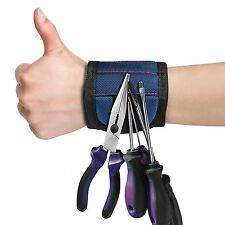 Magnetic Tool Wristband Embedded Carry Strap Belt Tray Nails Screw Parts Holder