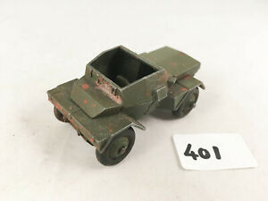 DINKY TOYS 673 SCOUT CAR ORIGINAL ARMY MILITARY VEHICLE DIECAST 1953-59 PLAYWORN