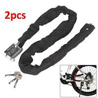 DURABLE 2PC HEAVY DUTY MOTORBIKE MOTORCYCLE SCOOTER MOTOR BICYCLE CHAIN PAD LOCK