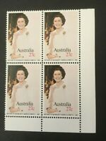 1982 Birthday of Her Majesty Queen Elizabeth II - MUH Corner Block of 4