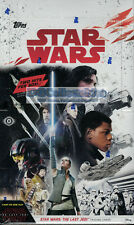 STAR WARS: THE LAST JEDI TOPPS 2017 FACTORY SEALED HOBBY BOX NEW TRADING CARDS!!