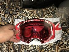 CLEARANCE! New OAKLEY SPLICE Snow Goggles CUSTOM..red/black/white w/Red iridium