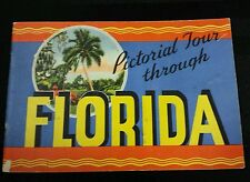 Vintage 1936 Pictorial Tour Through Florida from Fla. State Chambers of Commerce