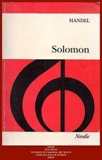 "Handel  ""SOLOMON"" - Vocal Music Score - Novello"