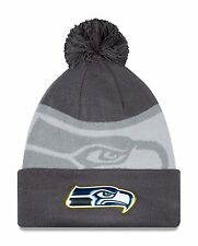 Seattle Seahawks Gold Collection Graphite Sports Knit Sideline Beanie Cap Hat