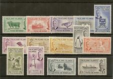 FALKLAND ISLANDS 1952 KGVI PICTORIAL SET TO £1 SG172/85 MNH