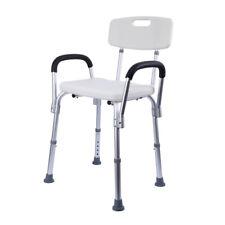 Duschstuhl mit Rückenlehne & Armlehne Höhenverstellbar Badestuhl Duschhocker
