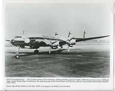 FLYING TIGER LINE CONSTELLATION LARGE OFFICIAL PHOTO AIRLINES