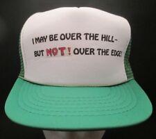 Vintage Snapback Trucker Hat Mesh Over The Hill Cap Funny Birthday Retirement