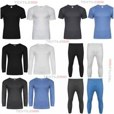 Mens Thermal Long Johns Top Bottom Underwear Trouser TShirt Set Full Half Sleeve