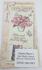 Joanna Sheen's - Jane Shasky Unmounted Rubber Stamps - RELAX AND ENJOY