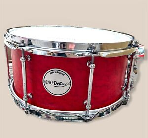 """13"""" x 6"""" AC Drums Snare Drum Birdseye Maple over Maple"""