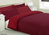 Red Reversible Duvet Cover Set Quilt Cover Bedding Set Single Double King Size