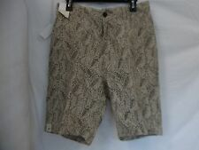 Murano Size 30 Wheat Linen Flat Front New Mens Shorts