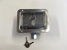 Truck cap Commercial contractor Stainless Steel folding T-handle w Lock # T711SS