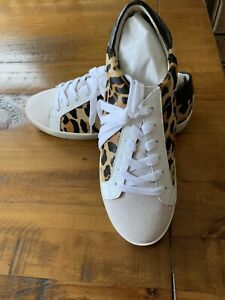 Stylish SEED HERITAGE Ollie Leather Sneakers Ocelot Animal Print Size 40 BNIB !