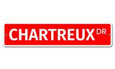 "5602 Ss Chartreux 4"" x 18"" Novelty Street Sign Aluminum"