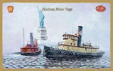 PRR & NYC Railroads - Hudson River Tugs Wood Plaque-Sign/Man Cave/Train&Kid Room