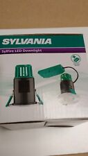 Sylvania 10w Fire Rated Led Downlight Dimmable brushed steel Warm White